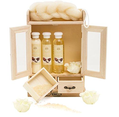 Scopri offerta per Brubaker, Set sapone bagno e doccia con armadietto in legno, 10pezzi