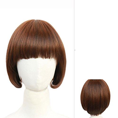 süß/fashion Lady Perücke/Qi Liu kurzes glattes Haar/Bob-C (Kostüm Pimp Womens)