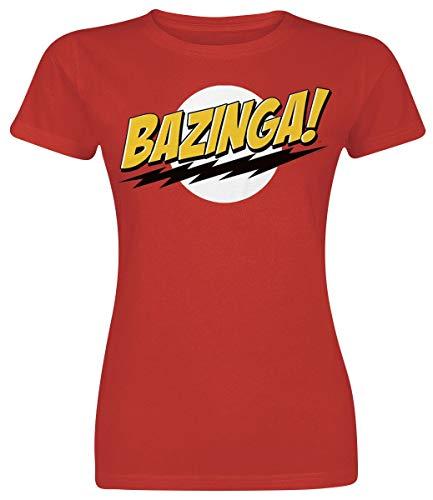 The Big Bang Theory Bazinga T-Shirt rot L (Frauen T-shirt Theory Big The Bang)