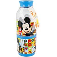 Mickey Mouse Botella con Compartimento Snack 300 ML (STOR 19037)