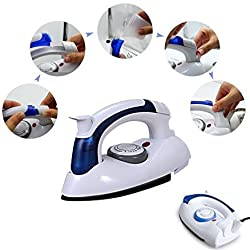Travel Folding Handel Portable Powerful Mini Electrical Steam Iron Press,White