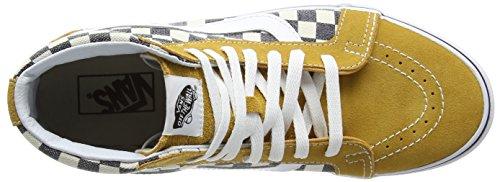 Vans Sk8-hi Reissue Unisex-Erwachsene Sneaker Mehrfarbig (checkerboard/spruce Yellow/navy)