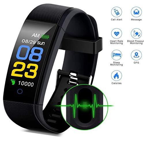 Fitness-Armbanduhr Fitness Tracker Wasserdicht Smart Armband Schrittzähler Schrittzähler Schrittzähler Anruf SMS Erinnerung für Android und iOS von Cindynamo, blau