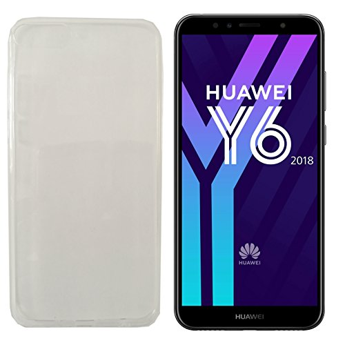 MOELECTRONIX TPU TRANSPARENT Silikon Schutzhülle Soft Case Tasche Hülle für Huawei Y6 2018 Dual SIM ATU-L21