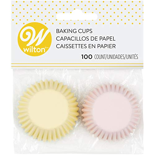 Wilton 415-2123 Mini Backförmchen Pastel 100 Stück, Papier, Pink/Green/Yellow
