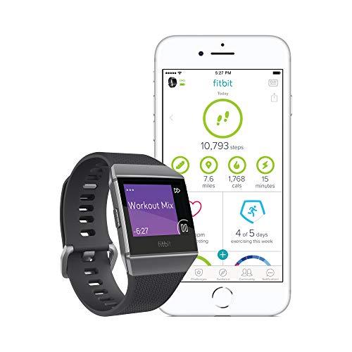 41la2mXGWrL. SS500  - Fitbit Ionic Health & Fitness Smartwatch (GPS) with Heart Rate, Swim Tracking & Music