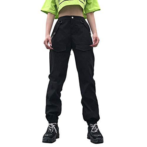 ❤❤JiaMeng Damen Cargo Hosen Hip Hop Jogger Street Pants Jogginghose Haremshosen Baggy Hip Hop Hosen Tanz Schweiß Casual Streetwear Hose Pumphose Street Sport Jogger
