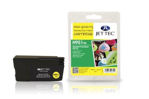Preisvergleich Produktbild Jet Tec CN048AE HP HP951XL In England hergestellte Wiederaufbereitete Tintenpatrone, gelb High capacity