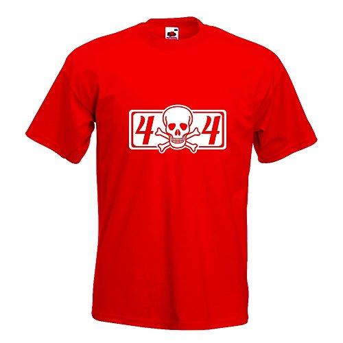 KIWISTAR - 4 x 4 Allrad T-Shirt in 15 verschiedenen Farben - Herren Funshirt bedruckt Design Sprüche Spruch Motive Oberteil Baumwolle Print Größe S M L XL XXL Rot