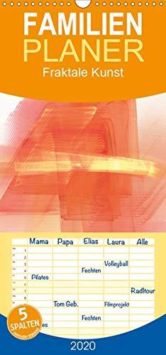 Fraktale Kunst - Familienplaner hoch (Wandkalender 2020 , 21 cm x 45 cm, hoch): Abstraktes Design (Monatskalender, 14 Seiten ) (CALVENDO Lifestyle)