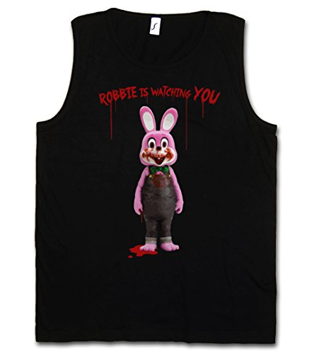 Camiseta sin mangas Robbie the evil rabbit (Hombre) (S a 5XL)