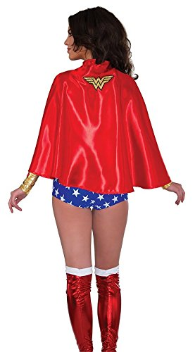 MyPartyShirt Satin Lined Wonder Woman Adult Cape
