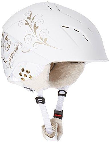 Alpina Erwachsene Skihelm Spice, White-Prosecco Matt, 55-59 cm, 9067212