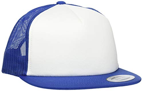Flexfit Foam Trucker mit White Front Cap, Roy/Wht, one Size Twill-fitted Cap