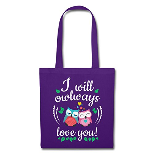Owlways Stoffa Bag Say Love You Love Love Di Viola You aw7Yddq8