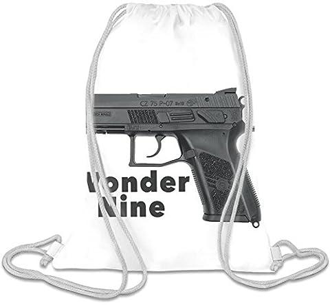 Wonder Nine Custom Printed Drawstring Sack | 100% Soft Polyester| 5 Liter Capacity| Adjustable String Closure| The Stylish Bag For Every Day Use| Custom Bags By Bang Bangin