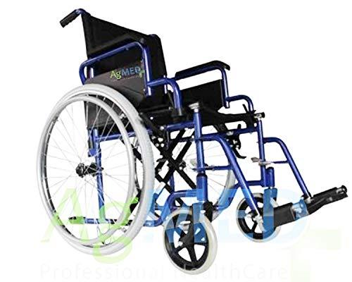 Sedia a rotelle pieghevole leggera ad autospinta seduta 46cm- Carrozzina per disabili ed anziani AGILY EVOLUTION ✔ Braccioli e Poggiapiedi estraibili ✔ Cintura di sicurezza ✔ Garanzia Italia 24 mes