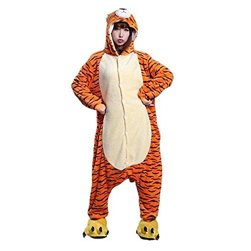 Unicsex Süß Tier Overall Pyjama Jumpsuit Kostüme Schlafanzug -