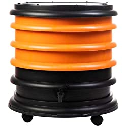 WormBox : Lombricomposteur 3 Plateaux Orange - 48 litres - Fabriqué en France