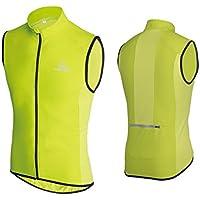Ceroti Pro Micro Windproof & Reflective Men's SS Cycling Vest Hi-Vi/Bicycle Riding Gilet Bike Biking wear
