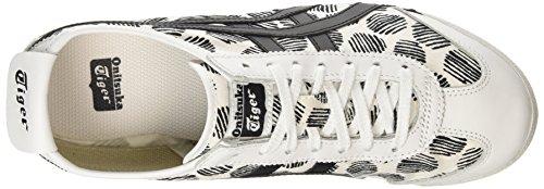 ASICS Mexico 66 D620n-0190-10 - Scarpe da Ginnastica Basse Unisex – Adulto, Bianco (white/black 0190), 44 EU Bianco (white/black 0190)