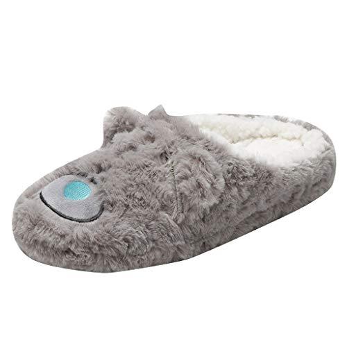 Mymyguoe Frauen Indoor Home Plüsch Weiche Nette Baumwolle Schuhe Rutschfeste Boden Hausschuhe Winter Pantoffeln Plüsch Wärme Weiche Hausschuhe Kuschelige Home Rutschfeste Slippers