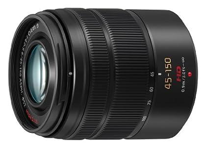 Panasonic H-FS45150E-K - Objetivo para micro cuatro tercios (distancia focal 45-150mm, apertura f/5.6-22, estabilizador, diámetro: 52mm) negro
