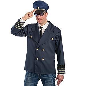 Carnival Toys - Disfraz capitán de a bordo en bolsa, talla única, multicolor (83283)