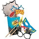 Photo Booth, Requisiten im Pop Art Party Look, Fotozubehör, Party Accessoires für Fotoecke