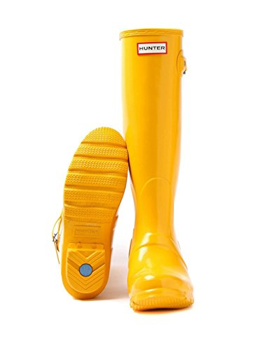 Hunter Orignal Tall Jaune Gloss Femmes Wellington Bottes Jaune