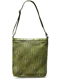 008faf861a7 Campomaggi Femmes grand sac de Shopper en cuir tissé Vert