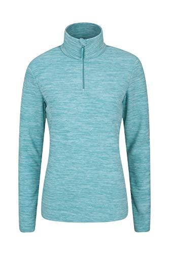 Mountain Warehouse Snowdon Damen-Fleecejacke - Antipill, Leichter Pullover, halber Reißverschluss, atmungsaktives Sweatshirt, schnelltrocknend - zum Wandern, Reisen Minze 40 DE (42 EU)