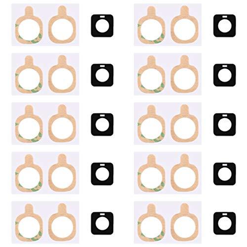 Spare Ersatz-Reparaturteile 10 Stück zurück Kameraobjektiv mit Aufkleber für Galaxy S5 Active / G870