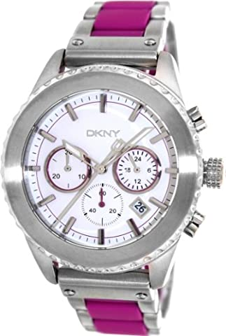 DKNY Men's 42mm Two Tone Steel Bracelet & Case Quartz White Dial Chronograph Watch NY8763