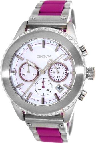 DKNY Men's 42mm Two Tone Steel Bracelet & Case Quartz White Dial Chronograph Watch NY8763