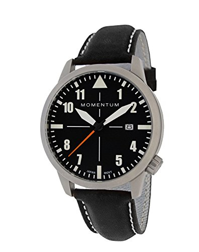 Momentum Men's Analog Automatic-self-Wind Watch with Leather Strap 1M-SN92BS2B