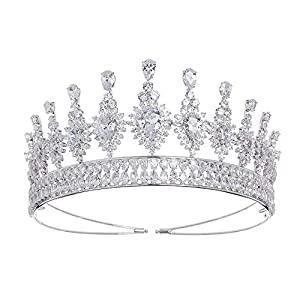 auvwxyz Diademe Bridal Crown Headwear Atmosphärisches Zirkonzubehör, B