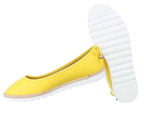 Lofers Alpercatas Femininos Calçados Bombas Amarelo Bailarinas U0qZUR6Hw