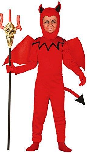 Imagen de niños diablo rojo demonio infierno halloween horror miedo libro tv película carnaval disfraz 3 12 años  rojo, 5 6 years