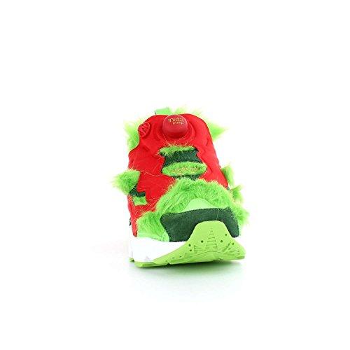 Reebok Instapump Fury CV Grinch, Solar Green-Scarlet-Pine Green-Gold Metallic-White Multicolore
