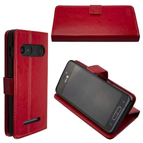 caseroxx Hülle/Tasche Doro 8035 Handy-Tasche, Wallet-Case Klapptasche in schwarz (Bookstyle Case, Rot)