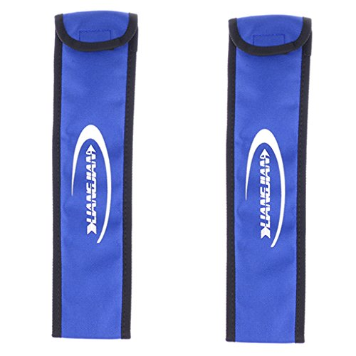 SM SunniMix 1 Paar Archery Bow Limb Schutzhülle Tasche Cover Saver Split Bow Longbow - Blau -