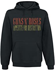 Guns N' Roses Cross Arched Type Sudadera con capucha Negro
