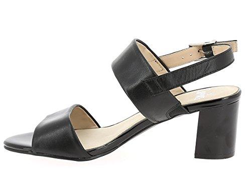 Caprice Damen Sandalette aus Glattleder in schwarz Black