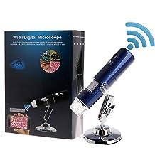 Draadloze microscoop, Wifi-microscoop 1080p Hd 1000x vergrootglas Geschikt voor smartphone-computers