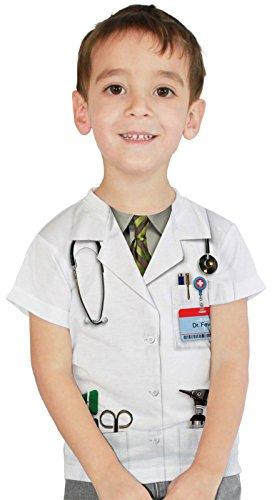 Faux Real Kids Doctor Kostüm (Kostüme Frat Einfach)