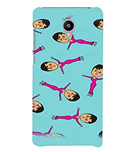 PrintVisa Cute Cartoon Art Print & Pattern Girl 3D Hard Polycarbonate Designer Back Case Cover for Meizu M3 Note