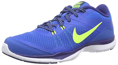 Nike Flex Trainer 5, Chaussures de Running Femme Soar/Volt/Deep Royal Blue/White