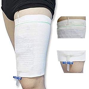 [1 Packung]Sockspark Katheter Urinbeutel Halterung Ärmel Inkontinenz Beinbeutel Halterung Hülse(Nicht Enthalten UrinBeutel)