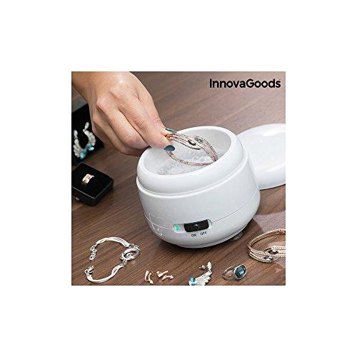 innovagoods Ultraschallreiniger für Schmuck, ABS und SS, weiß, 12x 10x 12cm